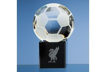10cm Optical Crystal Football on Onyx Black Optic Base