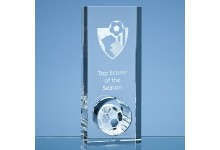20cm Optical Crystal Football Hole Award
