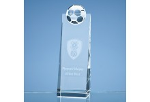 21cm Optical Crystal Football Rectangle Award