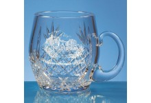 0.3ltr Lead Crystal Barrel Panel Tankard