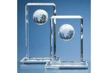 Optical Crystal Globe Rectangle Award