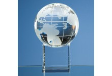 Optical Crystal Globe on Clear Base