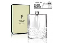 Pewter Hip Flask With Hammered Effect 6oz