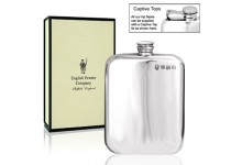Pewter Hip Flask Rounded 4oz