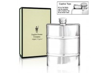 Pewter Hip Flask With Satin Band 4oz