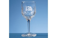 Blenheim Lead Crystal Panel Wine Glass