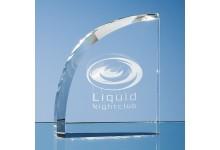 12.5cm Optical Crystal Curve Award