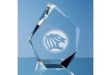 13cm Optical Crystal Facet Iceberg Award