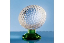 9cm Optical Crystal Golf Ball on Green Base
