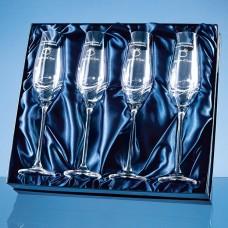4 Diamante Champagne Flutes