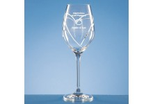 Diamante Wine Glass with Heart Shaped Cut