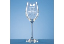 Diamante Wine Glass with Spiral Design Cut