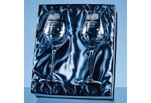 Diamante Wine Glasses Kiss Cut