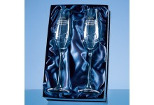 Diamante Champagne Flutes Kiss Cut