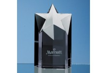 15cm Onyx Black Optic Star Column Award