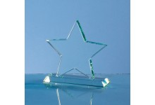 10.5cm x 12mm Jade Glass Star Award