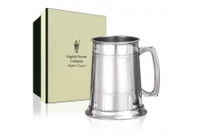 Pewter Tankard With Satin Band 1 Pint